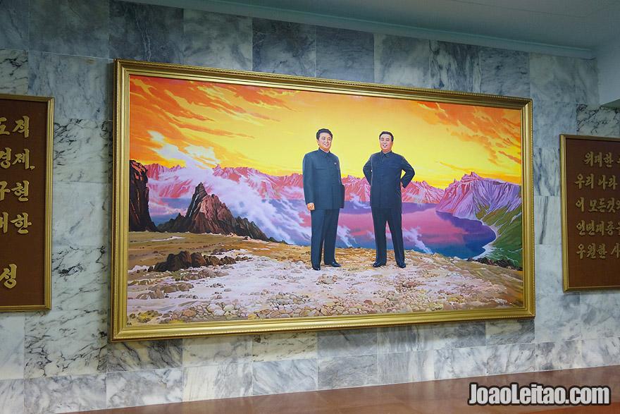 Pintura de Kim Il-sung e Kim Jong-il