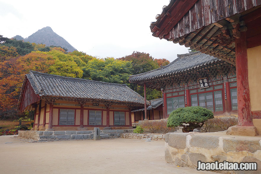 Templo Budista Woljong, na Coreia do Norte