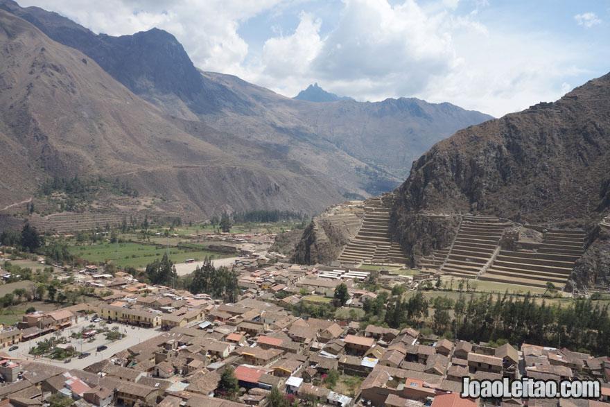 Vista sobre Ollantaytambo, Visitar o Peru