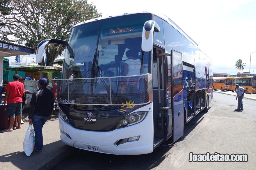 Autocarro (ônibus) Suva até Nadi, Ilhas Fiji