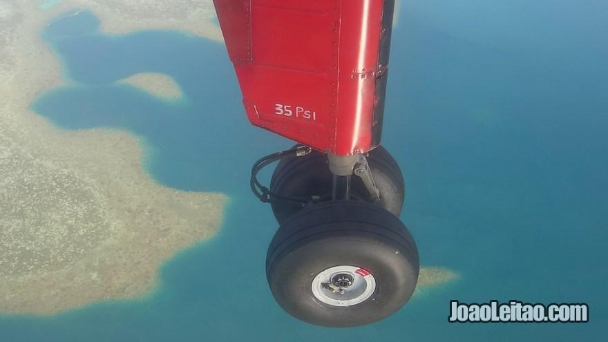 Avião desde Suva até Levuka na Ilha Ovalau nas Ilhas Fiji