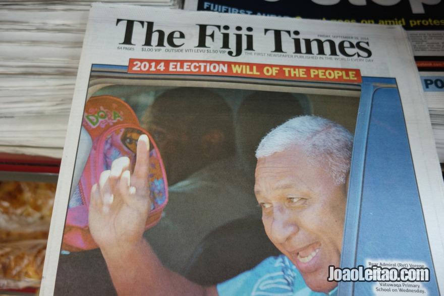 Ler o jornal diário The Fiji Times