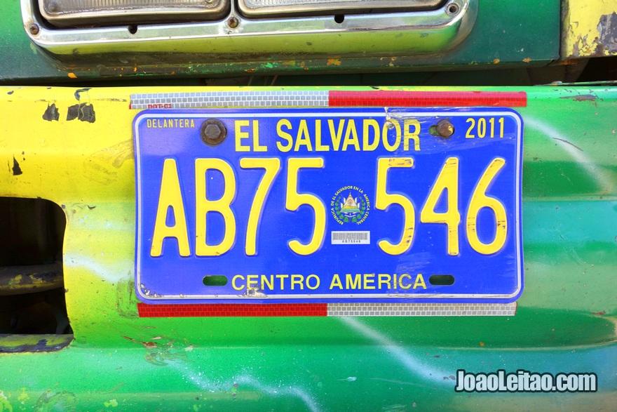 Matrícula do Autocarro El Poy até Aguilares, El Salvador