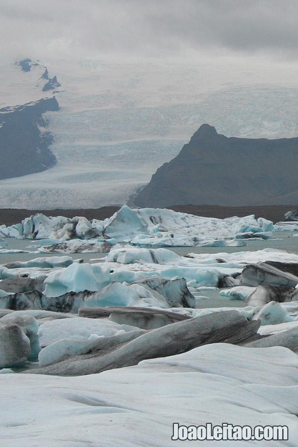 Glaciar Breiðamerkurjökull na Islândia