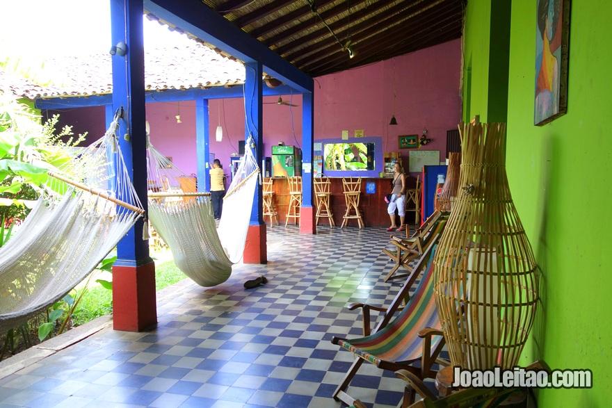 Pátio da Hospedaje La Libertad em Granada, Nicarágua