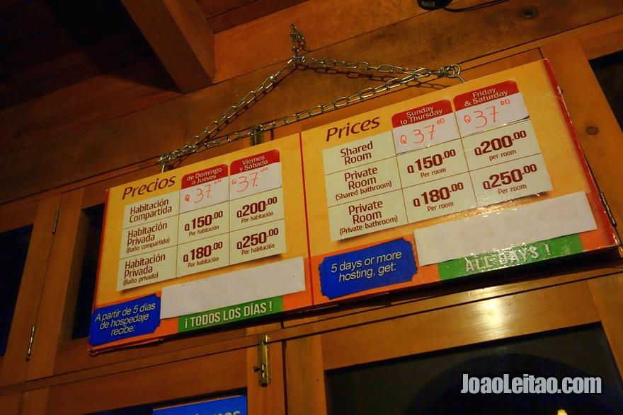 Prices of Hotel El Pasar de los Años in Antigua
