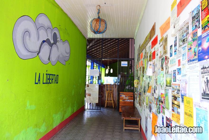 Corredor da Hospedaje La Libertad em Granada, Nicarágua