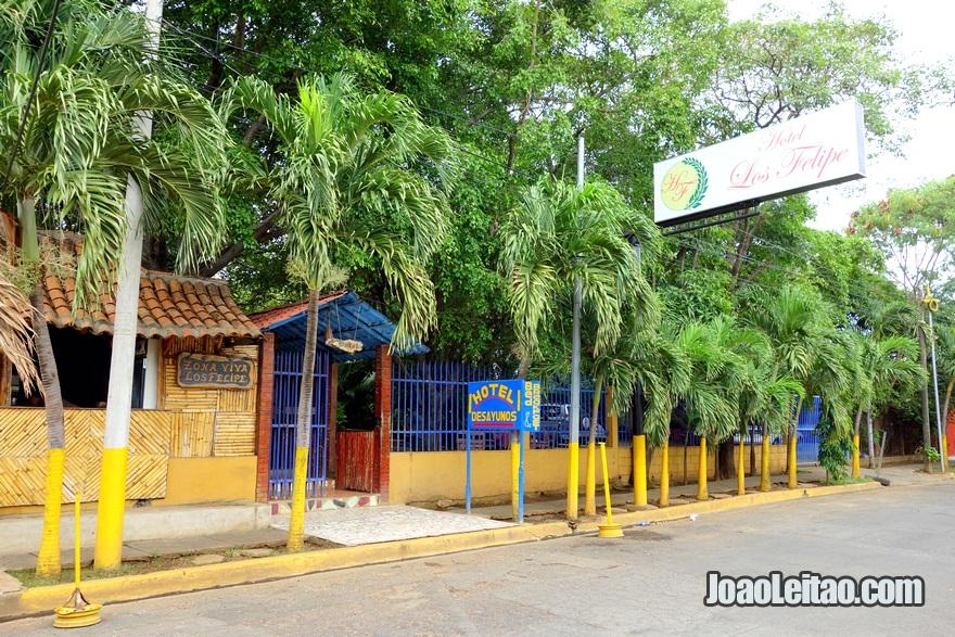 Entrada do Hotel Los Felipe em Manágua, Nicarágua