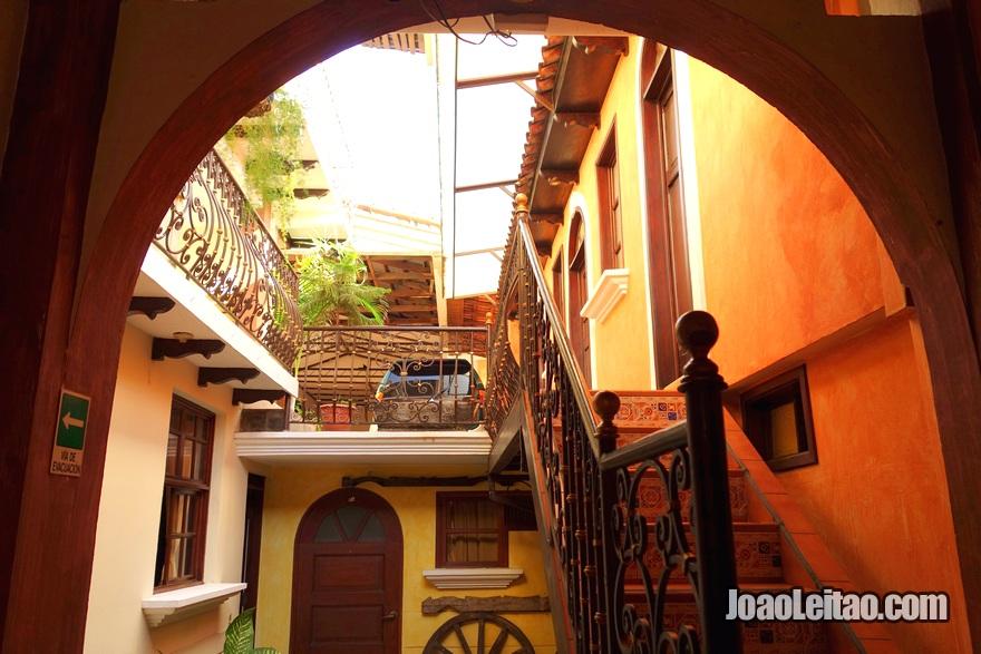 Pátio do Hotel Villa Florencia Centro em San Salvador, El Salvador