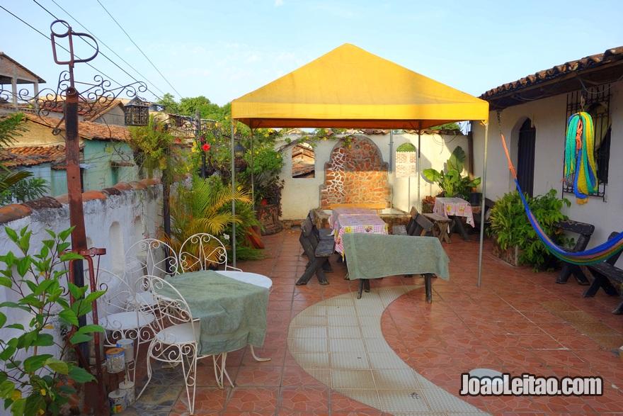 Terraço do Hotel Posada Blanca Luna em Sochitoto, El Salvador