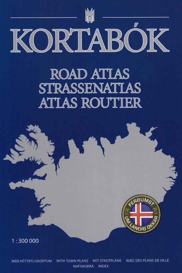 Mapa da Islândia – mapa de estradas - Road Atlas