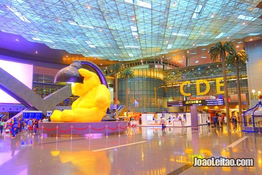 Aeroporto Internacional de Hamad em Doha no Qatar