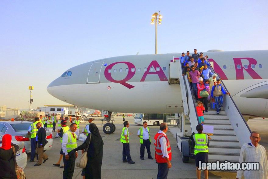 Exterior de Avião da Qatar Airways