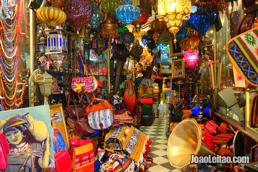 Lojas de souvenirs e artesanato