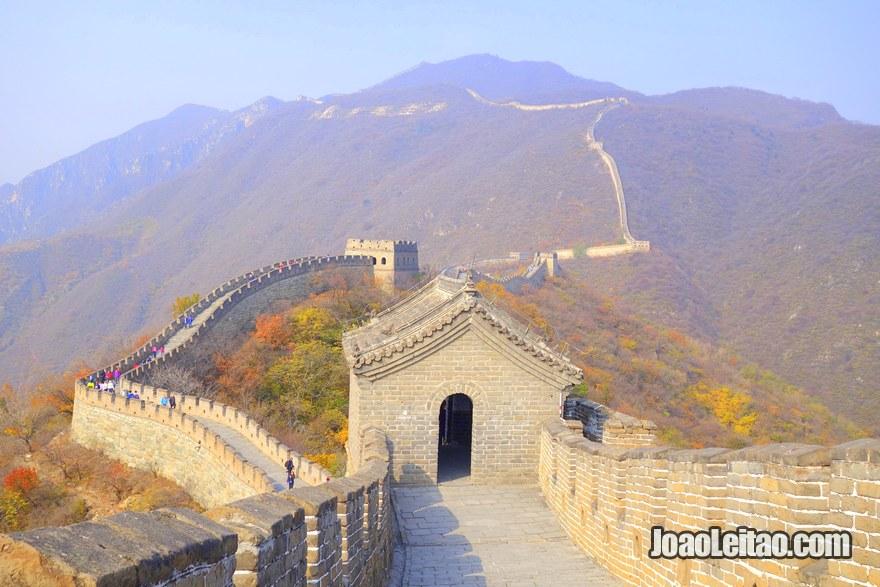 A Grande Muralha da China, em Mutianyu