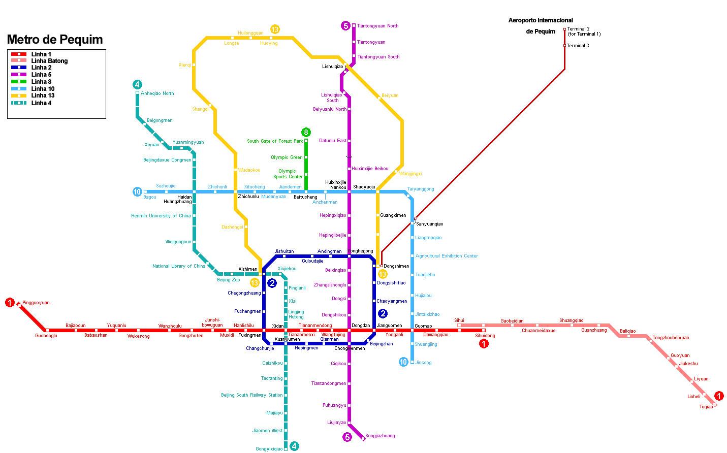 Mapa do Metro de Pequim