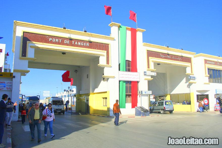 Foto da entrada do Porto de Tanger