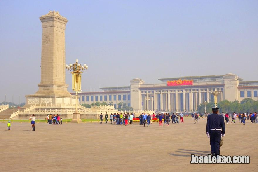 Foto da Praça Tiannamen em Pequim