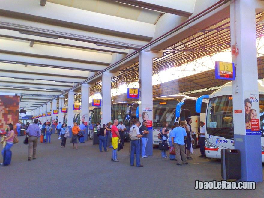 Foto do Terminal Autocarros de Lisboa em Sete Rios