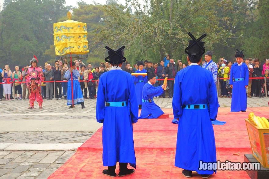 Cerimónia no túmulo Imperial Ming