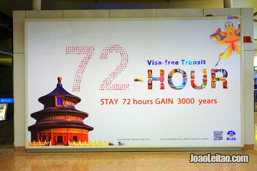 Visto de 72 horas em Pequim