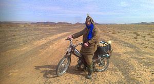 Motorcycle Sahara Desert