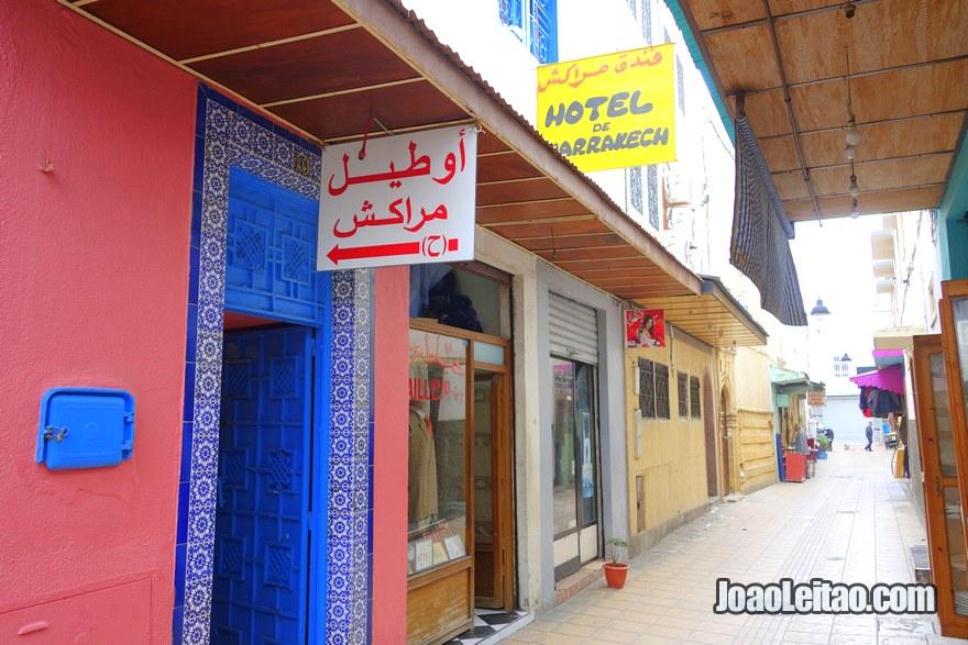 Entrada do Hotel de Marrakech em Rabat, Marrocos