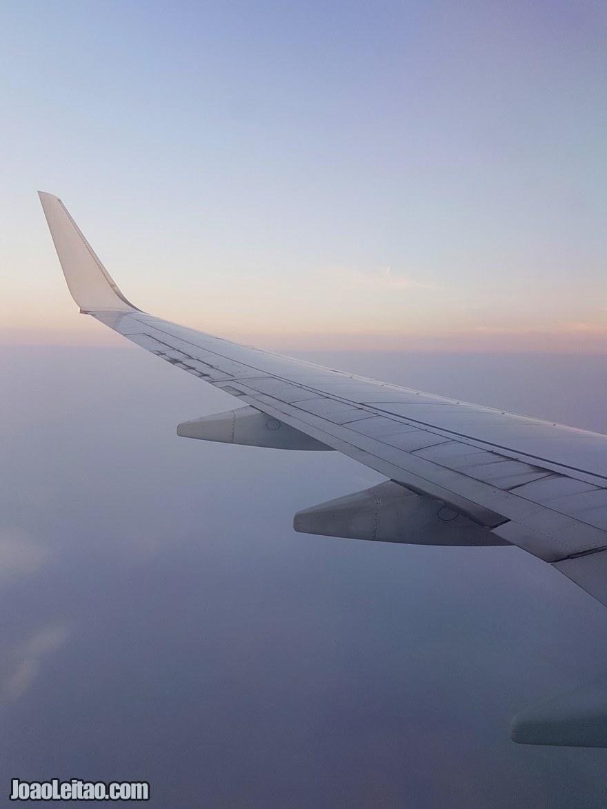 Vista da janela do avião de Daca até Calcutá - Bangladesh até à Índia