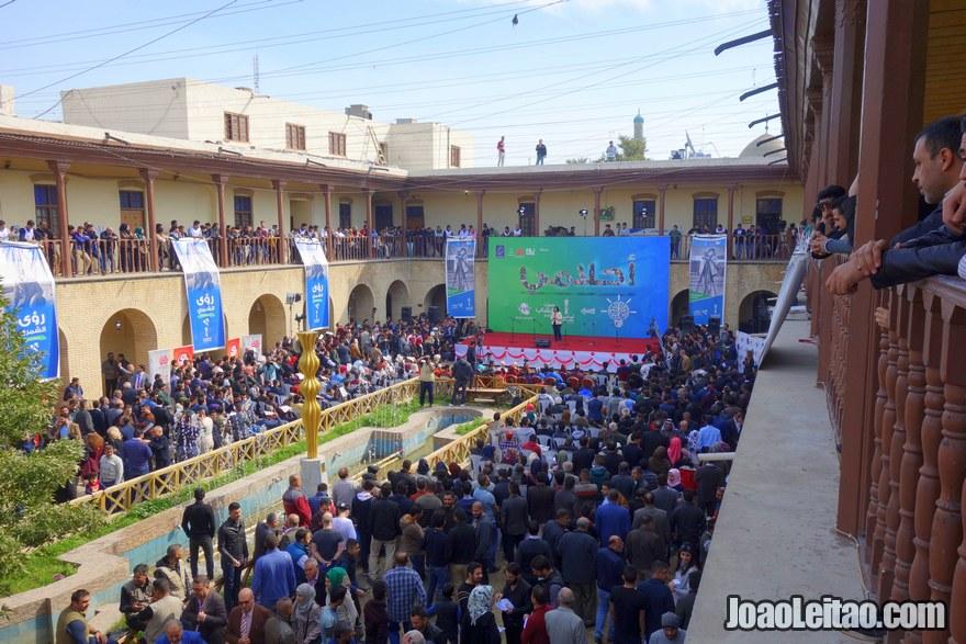 Interior do Centro Cultural de Bagdade