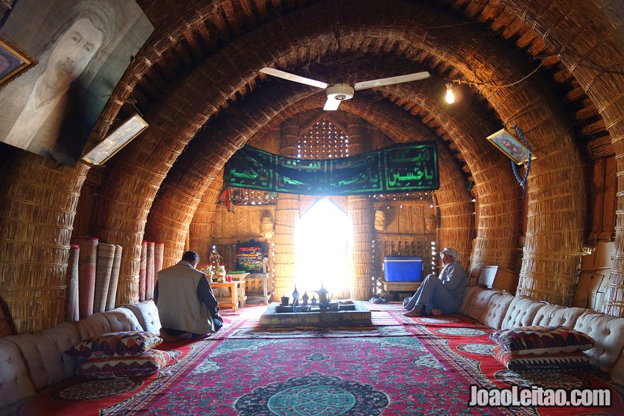 Inside a reed house in southern Iraq
