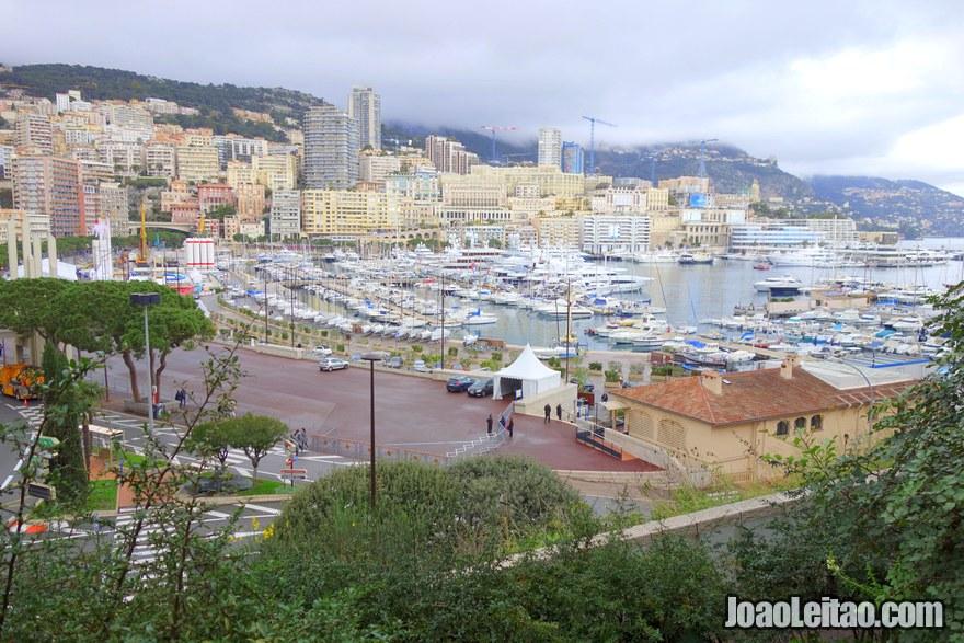 Vista do Bairro La Condamine no Mónaco