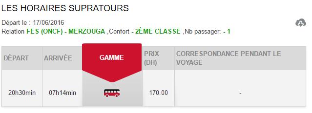 Horários e preços do autocarro desde Fez até Merzouga