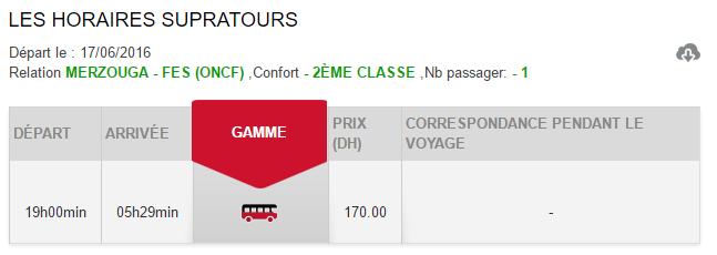 Horários e preços do autocarro desde Merzouga até Fez