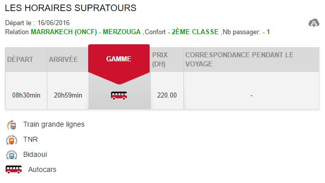 Horários e preços do autocarro desde Marrakech até Merzouga