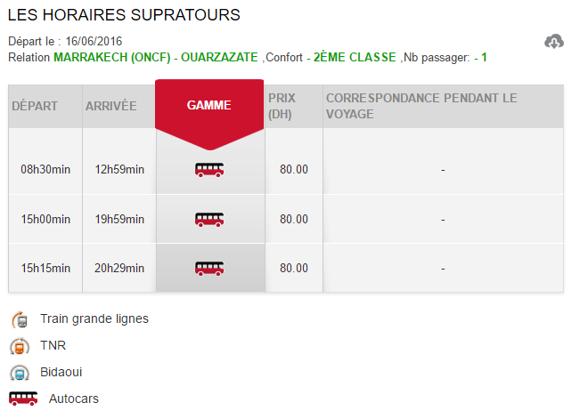 Horários e preços do autocarro desde Marrakech até Ouarzazate