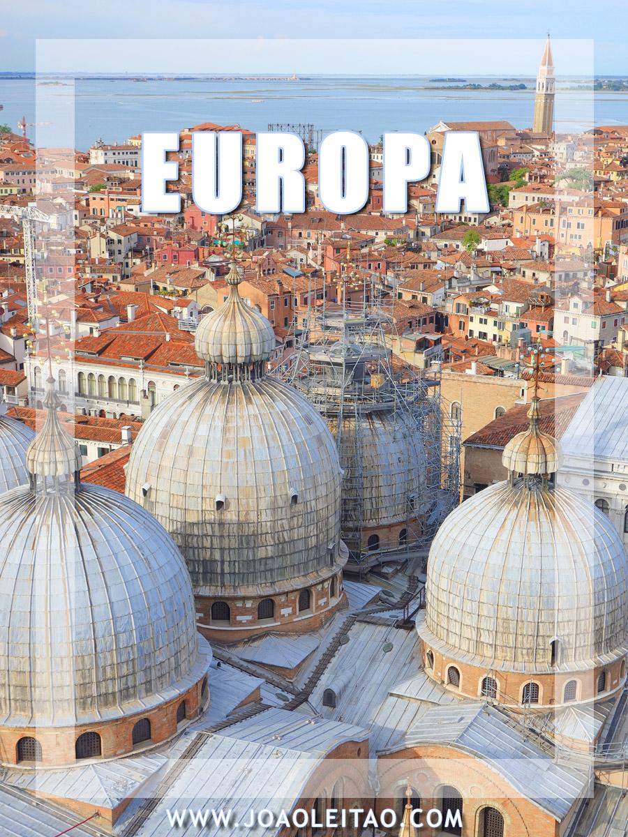 DOCUMENTOS PARA VIAJAR NA EUROPA