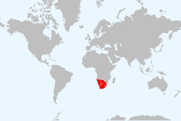 MAPA DA ÁFRICA AUSTRAL