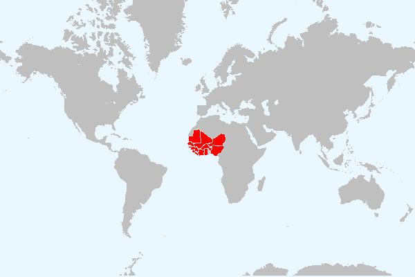 MAPA DA ÁFRICA OCIDENTAL