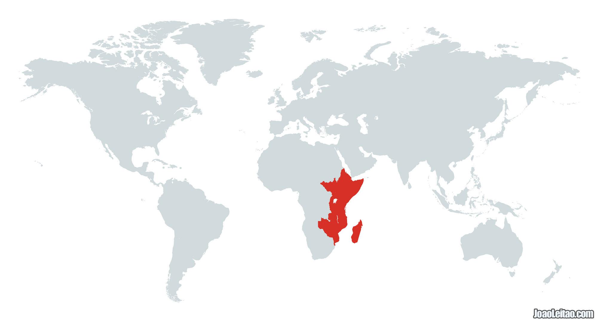 MAPA AFRICA ORIENTAL