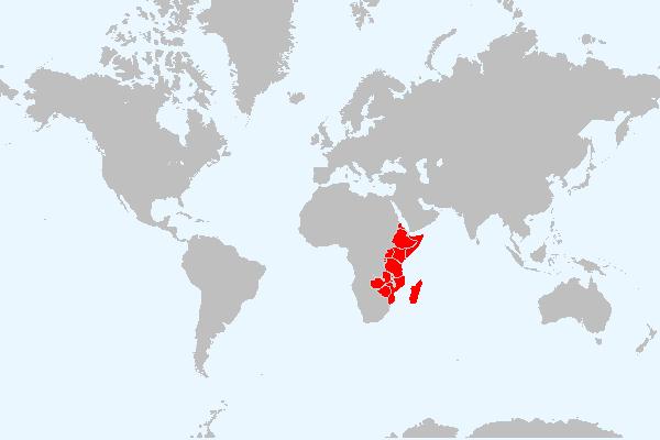 MAPA DA ÁFRICA ORIENTAL