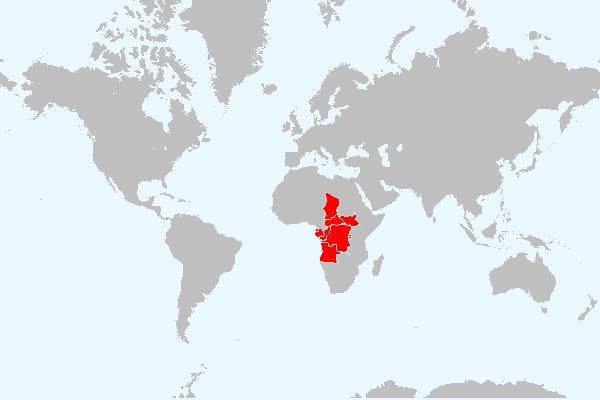 MAPA DA ÁFRICA CENTRAL