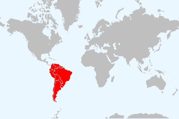MAPA DA AMERICA DO SUL
