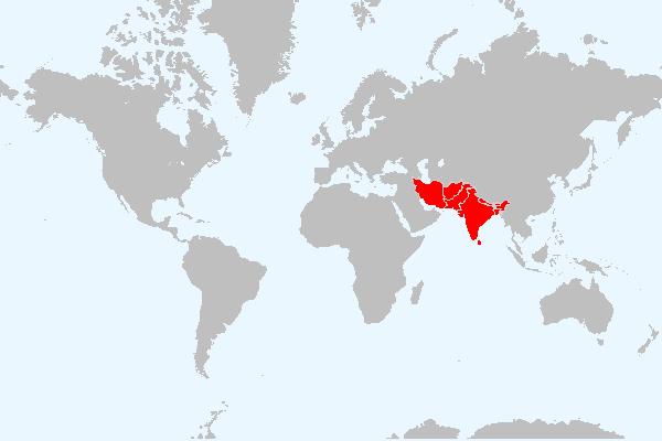MAPA DA ASIA MERIDIONAL