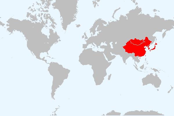 MAPA DA ASIA ORIENTAL