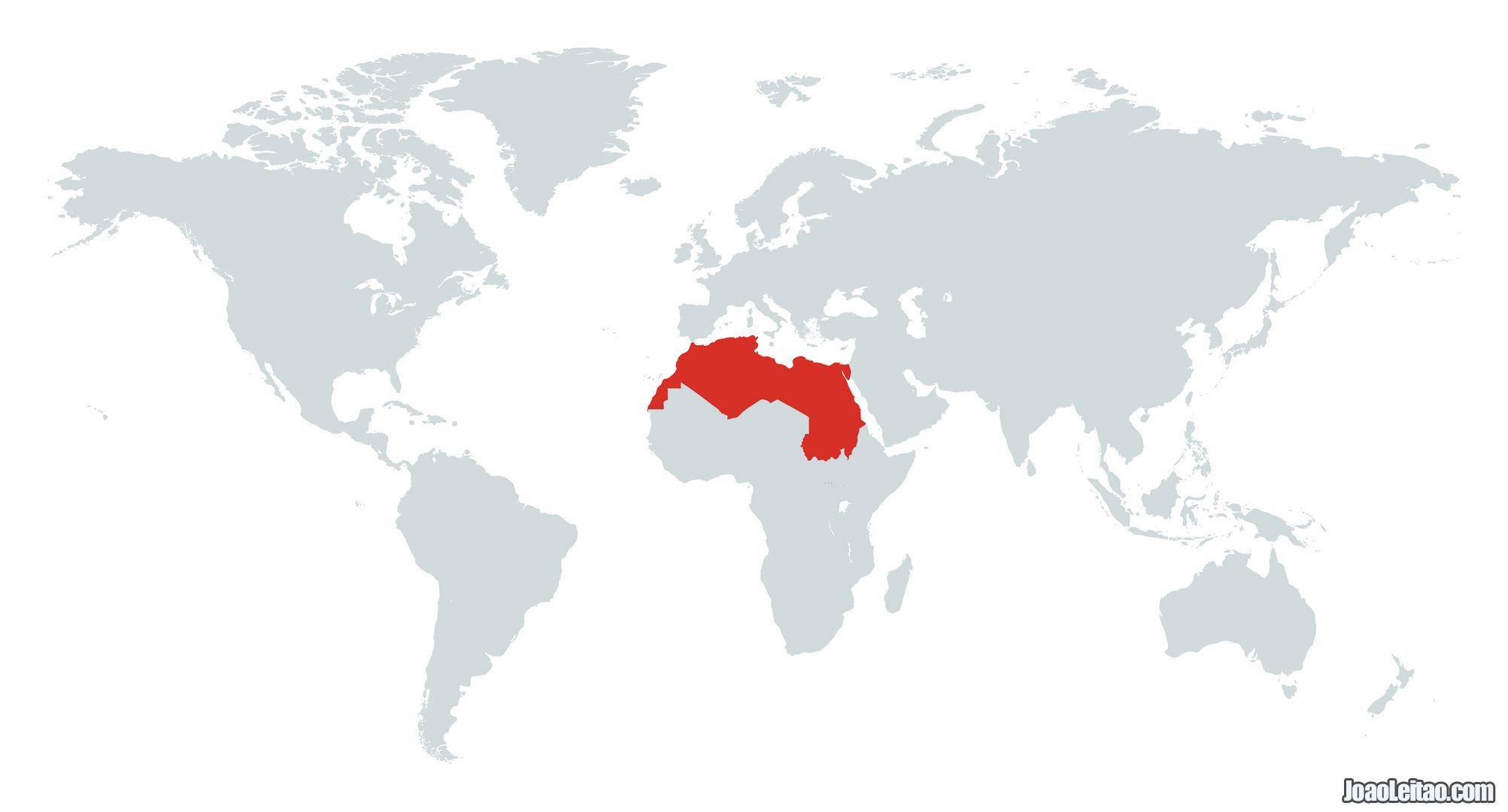 MAPA NORTE DE AFRICA