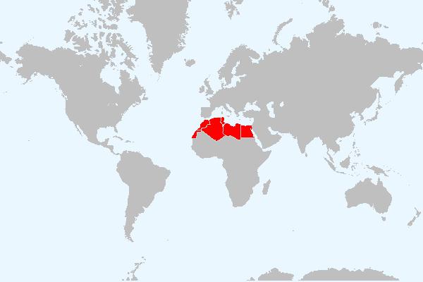 MAPA DO NORTE DE ÁFRICA