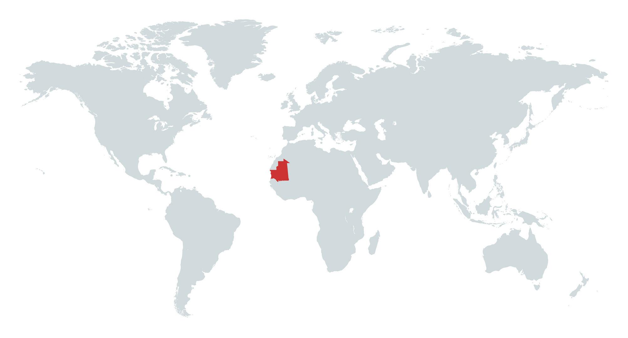 MAPA MAURITANIA