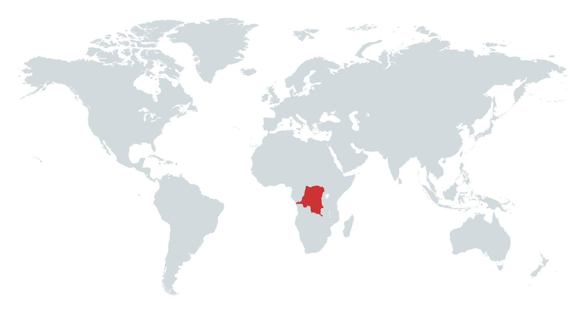 MAPA REPUBLICA DEMOCRATICA DO CONGO