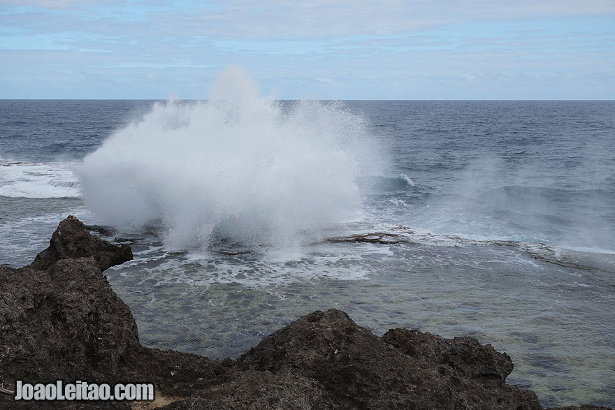Visit Mapuaa Vaea Blowholes Tonga