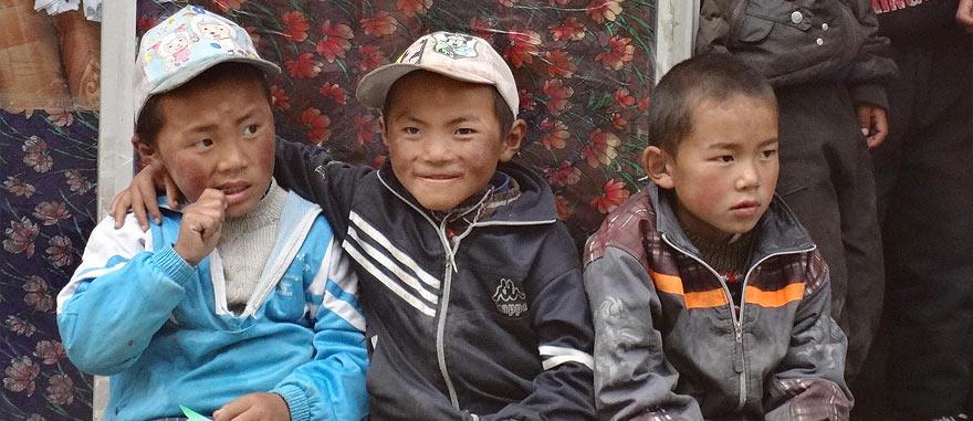 Tibetan boys in Nyalam